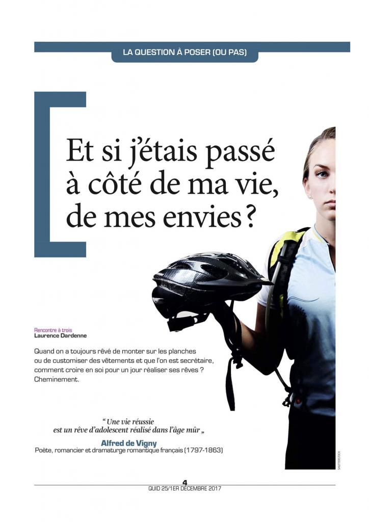 [Presse] La Libre Belgique – Et si j'étais passé(e) à côté de ma vie, de mes envies?